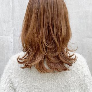 ミディアムレイヤー ミディアム セミディ 大人ミディアム ヘアスタイルや髪型の写真・画像