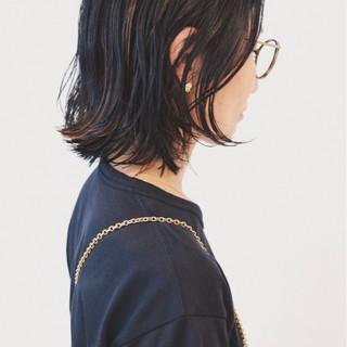ストリート インナーカラー ボブ ハイライト ヘアスタイルや髪型の写真・画像