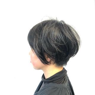 ショートカット ナチュラル 似合わせカット 小顔 ヘアスタイルや髪型の写真・画像
