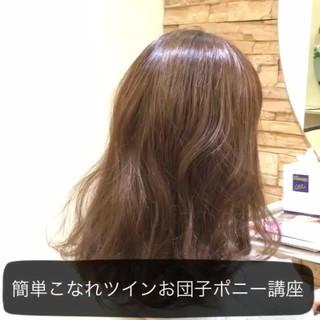 大人かわいい ショート 簡単ヘアアレンジ セミロング ヘアスタイルや髪型の写真・画像