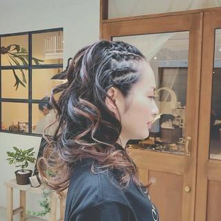 ロング ゆるふわ スポーツ パーティ ヘアスタイルや髪型の写真・画像