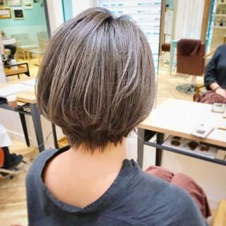 小顔 ナチュラル 外国人風 ショートボブ ヘアスタイルや髪型の写真・画像