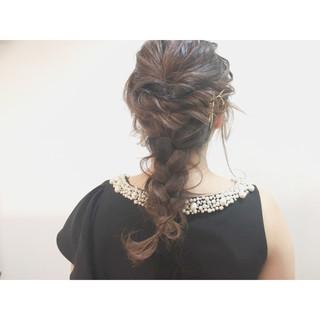 ハーフアップ ヘアアレンジ ショート 編み込み ヘアスタイルや髪型の写真・画像 ヘアスタイルや髪型の写真・画像