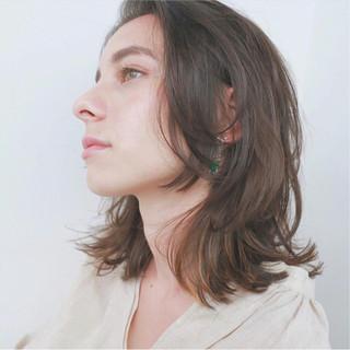 ナチュラル ヘアアレンジ ミディアム インナーカラー ヘアスタイルや髪型の写真・画像