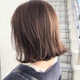ヌーディーベージュ ハイライト ナチュラル ベージュ ヘアスタイルや髪型の写真・画像