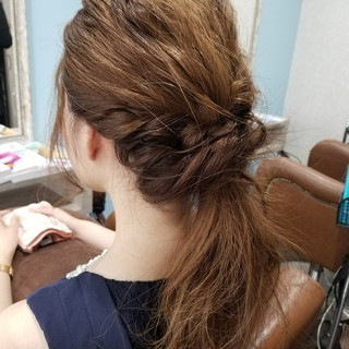 アウトドア 涼しげ 大人かわいい 結婚式 ヘアスタイルや髪型の写真・画像