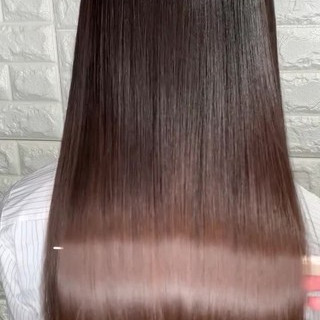 ストレート 髪質改善 縮毛矯正 サイエンスアクア ヘアスタイルや髪型の写真・画像