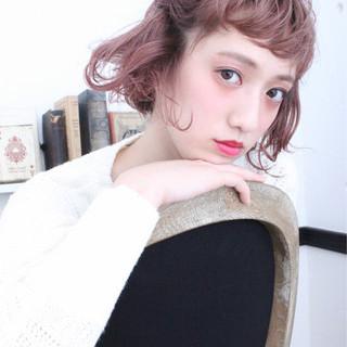 大人女子 外国人風 ヘアアレンジ ボブ ヘアスタイルや髪型の写真・画像