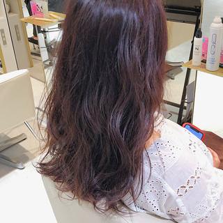 ラズベリーピンク ラベンダーピンク ピンクパープル ピンクブラウン ヘアスタイルや髪型の写真・画像