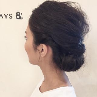 簡単ヘアアレンジ ショート ミディアム ゆるふわ ヘアスタイルや髪型の写真・画像 ヘアスタイルや髪型の写真・画像