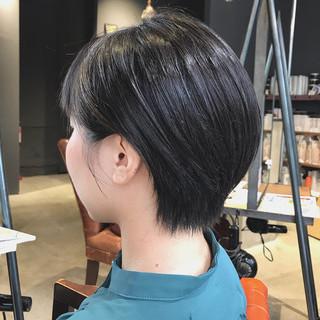 大人ショート 斜め前髪 ショートバング ハンサムショート ヘアスタイルや髪型の写真・画像