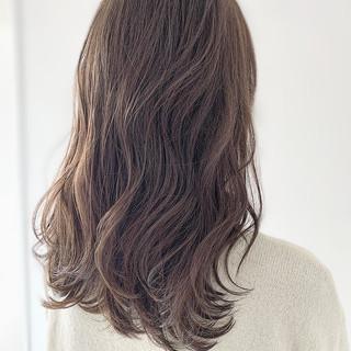 セミロング ブランジュ 大人女子 似合わせカット ヘアスタイルや髪型の写真・画像