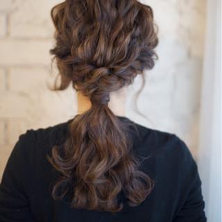 ショート セミロング ゆるふわ ヘアアレンジ ヘアスタイルや髪型の写真・画像
