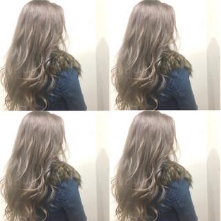 ストリート 外国人風 渋谷系 セミロング ヘアスタイルや髪型の写真・画像