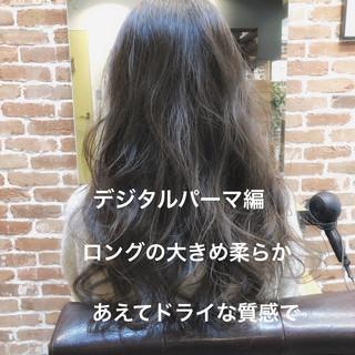 ナチュラル デジタルパーマ パーマ イルミナカラー ヘアスタイルや髪型の写真・画像