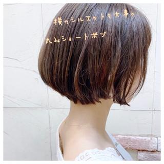 ボブ ブランジュ ショートボブ かわいい ヘアスタイルや髪型の写真・画像