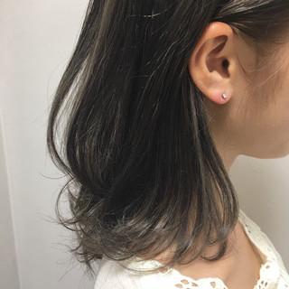 フェミニン ボブ インナーカラー 女子力 ヘアスタイルや髪型の写真・画像 ヘアスタイルや髪型の写真・画像