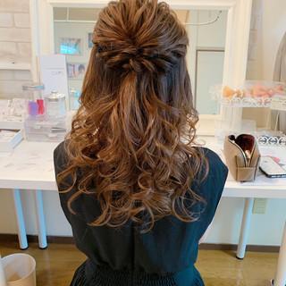 デート ロング ヘアアレンジ お呼ばれ ヘアスタイルや髪型の写真・画像