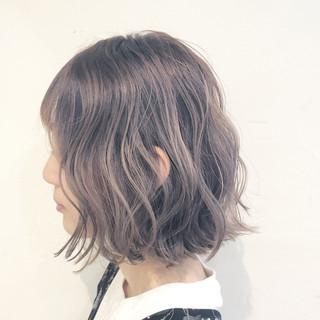 ボブ グレージュ 色気 ショート ヘアスタイルや髪型の写真・画像 ヘアスタイルや髪型の写真・画像