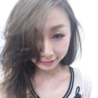 グラデーションカラー ロング 大人かわいい ハイライト ヘアスタイルや髪型の写真・画像