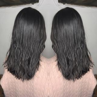 セミロング ストリート 外国人風 ヘアアレンジ ヘアスタイルや髪型の写真・画像