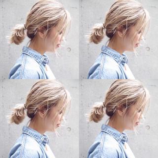 ホワイトブリーチ 外国人風カラー 外国人風 ブリーチカラー ヘアスタイルや髪型の写真・画像