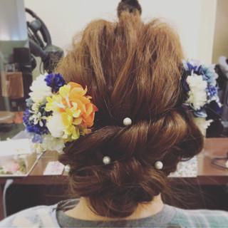 袴 ロング ヘアアレンジ 謝恩会 ヘアスタイルや髪型の写真・画像