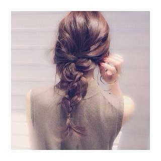 外国人風 ヘアアレンジ セミロング 大人かわいい ヘアスタイルや髪型の写真・画像
