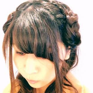 ゆるふわ ロング カール ヘアアレンジ ヘアスタイルや髪型の写真・画像
