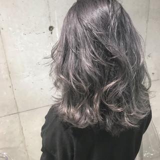 透明感 外国人風カラー ダブルカラー ミディアム ヘアスタイルや髪型の写真・画像