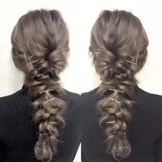 ロング ハーフアップ ショート 簡単ヘアアレンジ ヘアスタイルや髪型の写真・画像