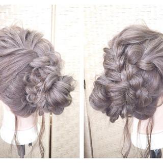 ロング ルーズ 和装 アップスタイル ヘアスタイルや髪型の写真・画像