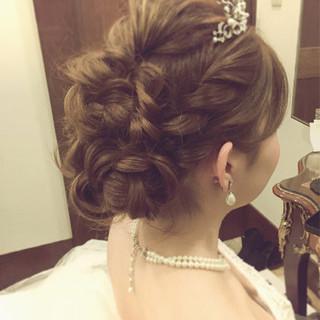 結婚式 セミロング 二次会 ヘアアレンジ ヘアスタイルや髪型の写真・画像 ヘアスタイルや髪型の写真・画像