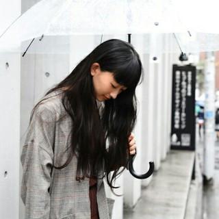 前髪あり グレージュ 冬 ロング ヘアスタイルや髪型の写真・画像
