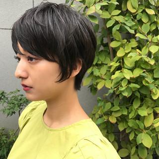 エフォートレス 女子力 ショートボブ 小顔 ヘアスタイルや髪型の写真・画像 ヘアスタイルや髪型の写真・画像