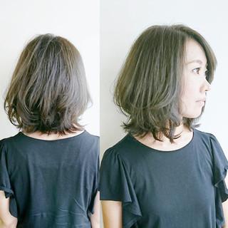透明感 エレガント 冬 セミロング ヘアスタイルや髪型の写真・画像