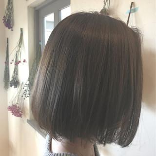ボブ ストリート 暗髪 アッシュ ヘアスタイルや髪型の写真・画像