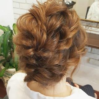 外国人風 ミディアム 簡単ヘアアレンジ ショート ヘアスタイルや髪型の写真・画像