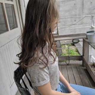 前髪 ナチュラル ロング かき上げ前髪 ヘアスタイルや髪型の写真・画像