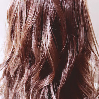 ハイライト ピンク セミロング ストリート ヘアスタイルや髪型の写真・画像