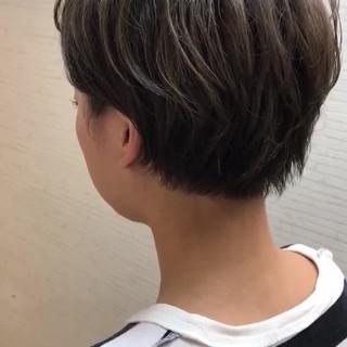 インナーカラー ショート ボブ 小顔 ヘアスタイルや髪型の写真・画像