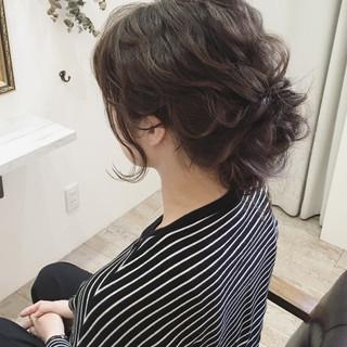ヘアアレンジ 結婚式 後れ毛 ロング ヘアスタイルや髪型の写真・画像