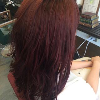 秋 ピンク グラデーションカラー ストリート ヘアスタイルや髪型の写真・画像