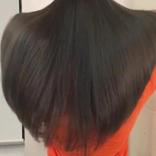 ナチュラル イルミナカラー ラベンダーグレージュ 艶カラー ヘアスタイルや髪型の写真・画像