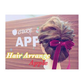 簡単ヘアアレンジ 成人式 ヘアアレンジ こなれ感 ヘアスタイルや髪型の写真・画像