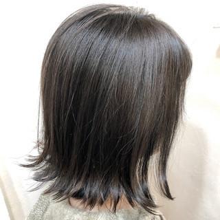 ナチュラル 透明感 アディクシーカラー ボブ ヘアスタイルや髪型の写真・画像