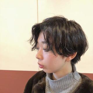 ナチュラル ショート 抜け感 モード ヘアスタイルや髪型の写真・画像