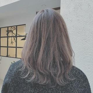ゆるふわ ミディアム エレガント デート ヘアスタイルや髪型の写真・画像