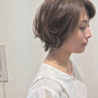 ナチュラル ショートボブ グラデーションカラー ショート ヘアスタイルや髪型の写真・画像 ヘアスタイルや髪型の写真・画像
