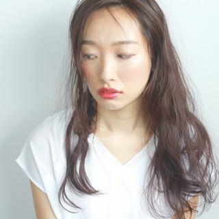 アンニュイ 暗髪 ロング ショート ヘアスタイルや髪型の写真・画像